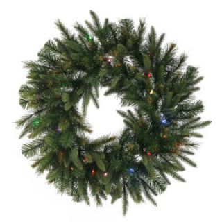 Vickerman 48 in. Pre Lit LED Cashmere Wreath   Christmas Wreaths