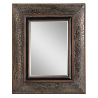 Bovara Rustic Bronze & Copper Wall Mirror   34.5W x 42.5H in.   Wall Mirrors