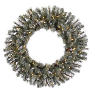Vickerman 36 in. Pre Lit LED Frosted Sartell Wreath   Christmas Wreaths