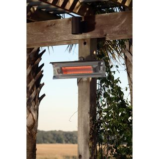 Fire Sense Stainless Steel Wall Mounted Infrared Patio Heater   Electric Patio Heaters
