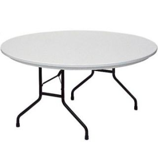 Correll 60 in. Round Commercial Grade Blow Molded Folding Table   Banquet Tables