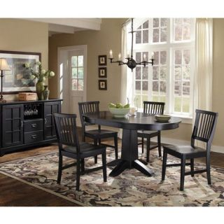 Home Styles Arts & Crafts Round Dining Table   Black   Dining Tables