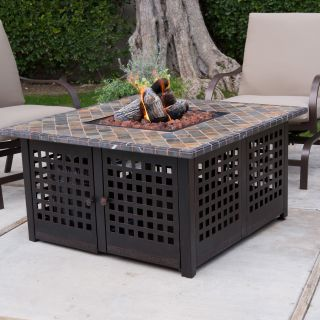 Uniflame Propane Gas Fire Pit with Handcrafted Tile   Fire Pits