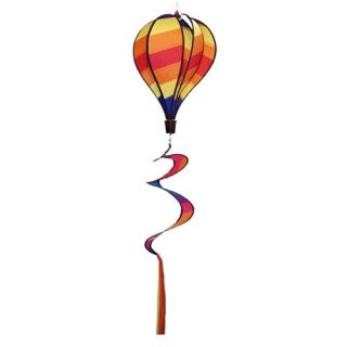 In the Breeze Hot Stripe Hot Air Balloon Wind Spinner   Wind Spinners