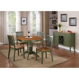 Steve Silver Candice Two Tone Round Pedestal Dining Table   Dining Tables