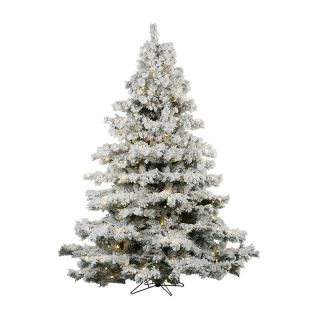 Alaskan Flocked Pre Lit LED Christmas Tree   Christmas Trees