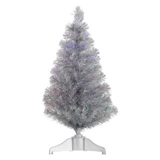 Vickerman 3 ft. Silver Fiber Optic Christmas Tree   Christmas Trees