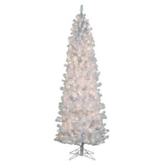 Pre lit Clear 4.5 ft. Pencil Pine White Christmas Tree   Specialty Christmas Trees