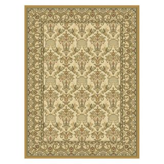 Central Oriental Radiance Elegant Area Rug   Wheat   Area Rugs