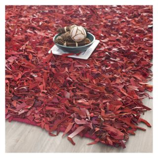 Safavieh Leather Shag LSG511D Area Rug   Red   Modern Area Rugs
