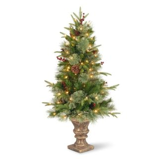 4 ft. Feel Real Colonial Pre Lit Christmas Tree   Clear Lights   Christmas Trees
