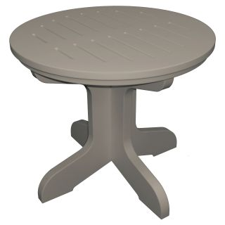 Poly Concepts Outdoor 21 in. Round Pedestal Side Table   Patio Tables