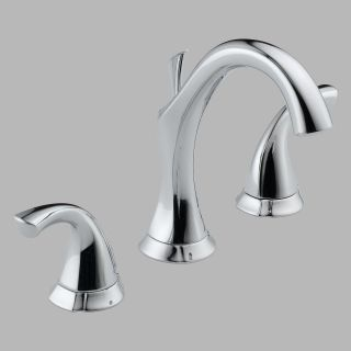 Delta Addison 3592LF Double Handle Widespread Bathroom Sink Faucet   Bathroom Sink Faucets
