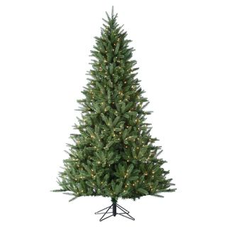 7.5 ft. Pre Lit Natural Cut Hawthorn Pine Christmas Tree   Christmas Trees