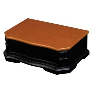 Mele Harper Cedar & Black Small Jewelry Box   10W x 3.3H in.   Womens Jewelry Boxes