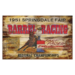 Barrel Racing Wall Art   Wall Sculptures and Panels
