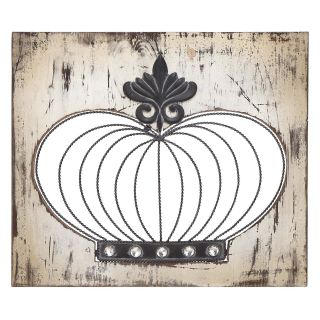 Wood and Metal Crown Wall Art   20W x 17H in.   Wall Sculptures and Panels