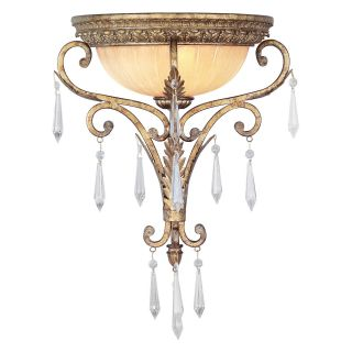 Livex La Bella 8810 65 Wall Sconce   Vintage Gold Leaf   15W in.   Wall Lighting