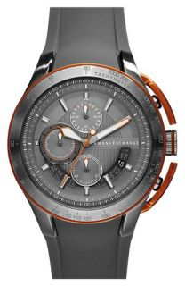 AX Armani Exchange Chronograph Silicone Strap Watch, 45mm