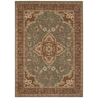 Tommy Bahama Home Rugs   Pot Royal Medallion   Ocean Tommy Bahama 7x9   10x14 Rugs