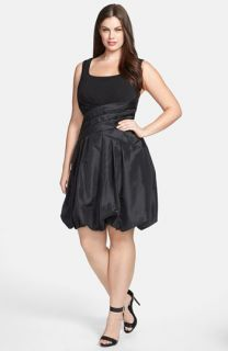 Jessica Simpson Sleeveless Scoop Neck Dress with Bubble Skirt (Plus Size)