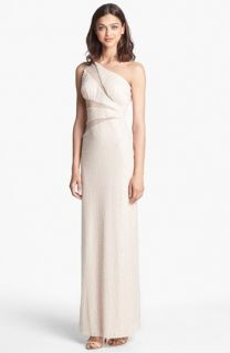 Hailey by Adrianna Papell One Shoulder Sequin Gown