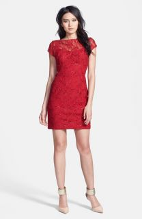 Hailey by Adrianna Papell Embellished Lace Sheath Dress (Online Only)