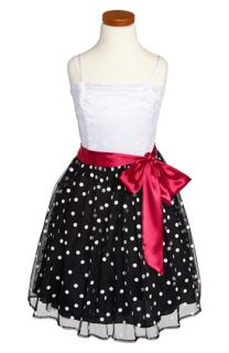 Un Deux Trois Polka Dot Dress (Big Girls)
