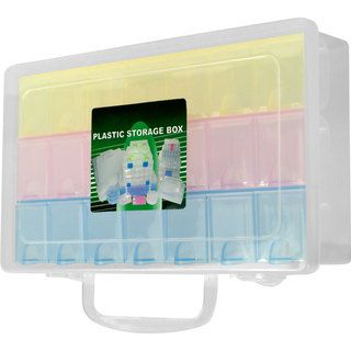 Stalwart Multi color 22 compartment Storage Box Trademark Tools Organizers