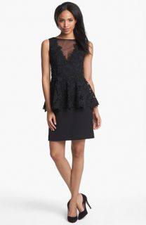 Betsy & Adam Lace Peplum Dress