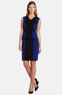 BCBGMAXAZRIA Racha Peplum Colorblock Sheath Dress