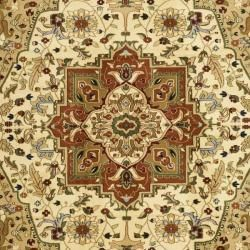 Lyndhurst Collection Ivory/Rust Area Rug (8' x 11') Safavieh 7x9   10x14 Rugs