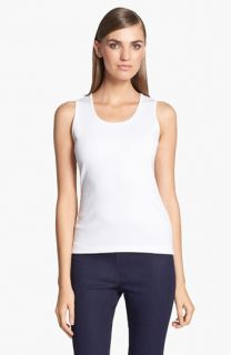 St. John Collection Scoop Neck Milano Knit Tank