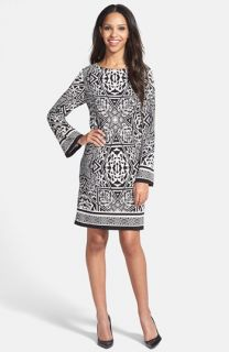 Nicole Miller Print Jersey Shift Dress