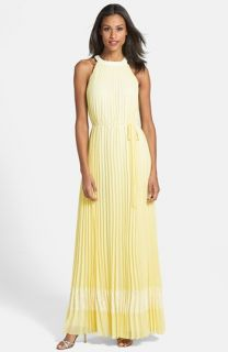 Ted Baker London Pleated Halter Maxi Dress