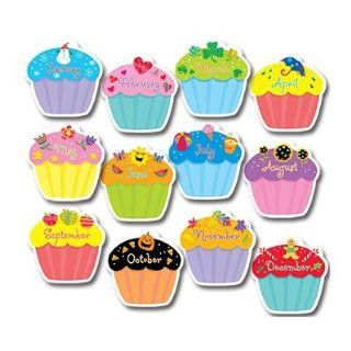Creative Teaching Press Cupcakes Jumbo Cut Outs   Themed Classroom Displays And Decoration