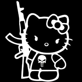 Hello Kitty AK47 Sticker Vinyl Decal Auto Car Sanrio gun JDM military USA SELLER Automotive