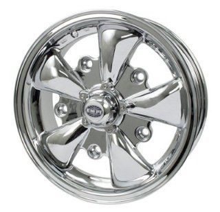 "Empi Vw 5 Spoke Wheel, Chrome Finish, 5.5"" 5/205 Lug, W/cap Automotive"