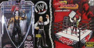 JEFF HARDY PAY PER VIEW 20/SPRING RING PACKAGE DEAL WWE TOY WRESTLING ACTION FIGURES Toys & Games