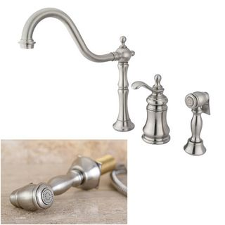 Templeton Satin Nickel Single handle Kitchen Faucet Kitchen Faucets