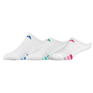 adidas Variegated 3 Pack No Show Socks   Womens   Training   Accessories   Black/White