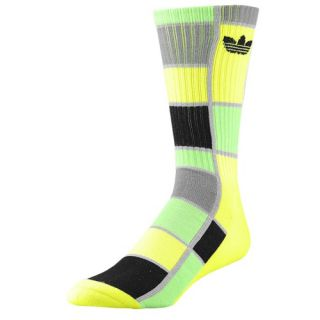 adidas Originals Trefoil Crew Socks   Mens   Casual   Accessories   Electricity/Macaw/Black/Tech