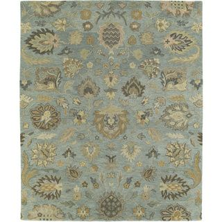 Christopher Kashan Hand tufted Light Blue Rug (10' x 14') 7x9   10x14 Rugs