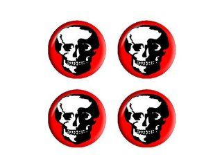 Skull Skeleton   Wheel Center Cap 3D Domed Set of 4 Stickers Automotive