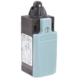Siemens 3SE5 232 0HD03 Mechanical Position Switch, Complete Unit, Plastic Enclosure, 31mm Width, Roller Plunger, 10mm Plastic Roller, Snap Action Contacts, Integrated, 1 NO + 1 NC Contacts
