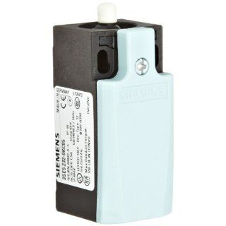 Siemens 3SE5 232 0KC05 International Limit Switch Complete Unit, Plastic Enclosure, 31mm Width, Rounded PTFE Plunger, Slow Action Contacts, 1 NO + 2 NC Contacts