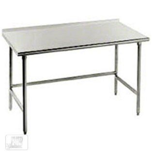 "16 Gauge Advance Tabco TSFG 243 Super Saver 24"" x 36"" Commercial Work Table with 1 1/2"" Backsplash"