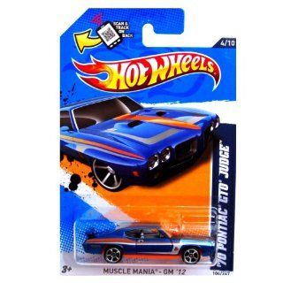 2012 Hot Wheels Muscle Mania   GM '70 Pontiac GTO Judge Blue #104/247 Toys & Games