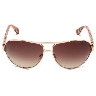 Marc by Marc Jacobs Women's MMJ 245/S 0WAC Rectangle Sunglasses,Brown Striated Frame/Brown Gradient Lens,One Size Clothing