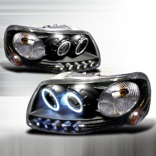 1997 2003 Ford F150 CCFL Halo Projector Headlights Black Automotive